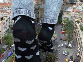 Giantess Kitty's Rampage Part 3: The Walk by dochamps