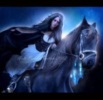 The Horse Rider by NatsPearlCreation