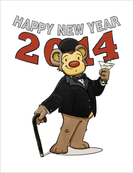 New Year's Eve 2013 Bear by JoshuaLam715