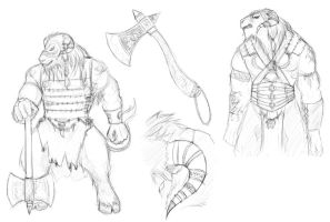 Minotaurs sketch by Albopictus