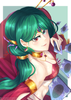 Dancer of Fortune Cards by ARSONicARTZ