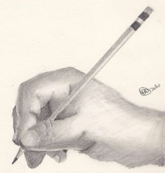 Pencil in Hand by Lukis24