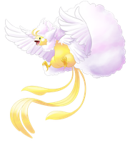 Spooky Sweet Spectacle: Shiny Mega Altaria by DemonicSugarcube