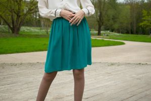 Turquoise skirt 2 by MisterTryster