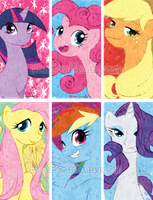 Pony Bookmarks for Otakon!! by Bon-Bon-Bunny