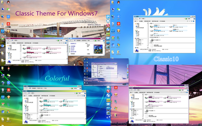 Colorful Classic Theme For Windows 7 Final by yuenkaiwei
