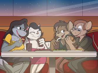 Commission: The Double Date by Ari-Dynamic