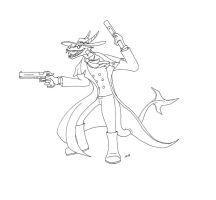 Alucard outlines by Psydrache