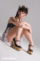 Raychel with her tattoo shoes by DastardlyDave