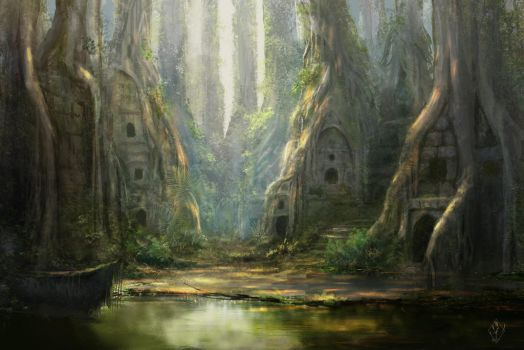Forest Ruins by jjpeabody