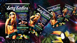 Sexy Ladies Tropical Night | Flyer + FB Cover by LouisTwelve-Design