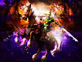 Link And Epona Wallpaper by EntexImmer