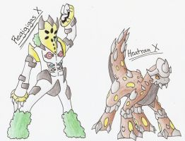 Regigigas and Heatran X