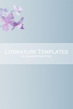 Orchid Literature Template by clandestine-stock