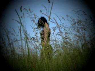 Me in grass by AmandaBlack
