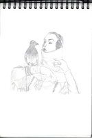 Pidgeon and Lady by kinow