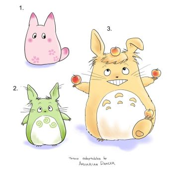 Totoro Adoptable by aruarian-dancer