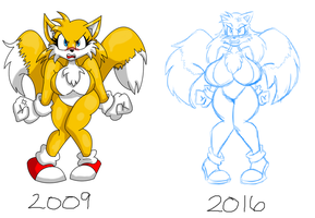 TG Tails Redraw by LuckyBucket46