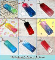 Sophisticated Resin Necklaces by bapity88