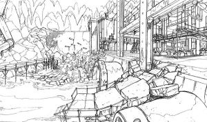 Turtle Lair development sketch by Solblight