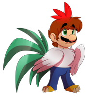 AT: Chicken mario by MarioCatBros123