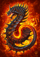 Fire Dragon by amorphisss