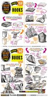 How to draw BOOKS and SPELL BOOKS tutorial by STUDIOBLINKTWICE