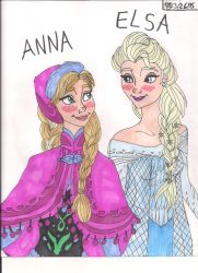 Anna and Elsa by Bella-Who-1