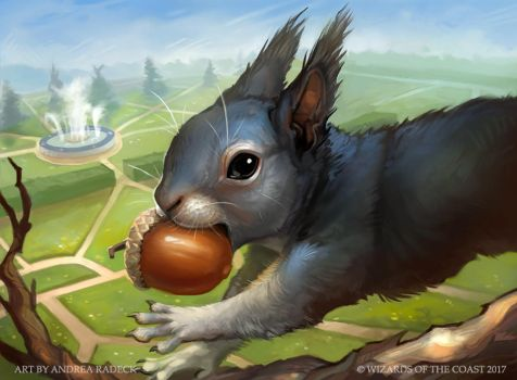 Magic the Gathering: Unstable - Half Squirrel by ALRadeck