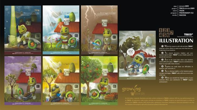 TISCO Calendar '09 by dr4g0nw1ngs