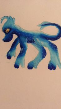 Doodle of one blue thing. (I was bored) by Sweetsilverowl