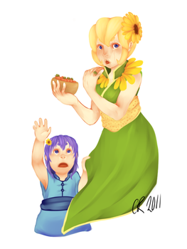 Mother and Daughter by carareed