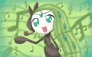 Singing Meloetta by MagicGirl2000