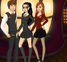 Bent Golden Trio by kaileyrox