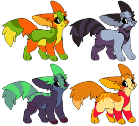 Colorful Doggo Adoptables ~ OPEN - 15 points by Kodi9