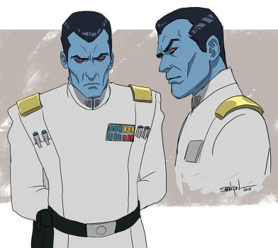 Thrawn - 2D animation style by SaraKpn