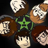 Those Achievement Hunter Dorks by EllaMRed
