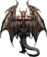 Tiamat, The Dragon Rear View by GleamingScythe