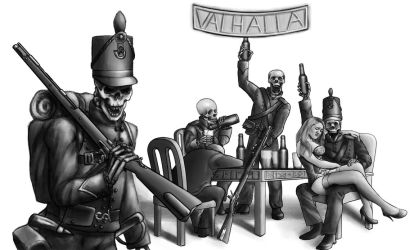 Commission: Riflemen in Valhalla by darkchild130