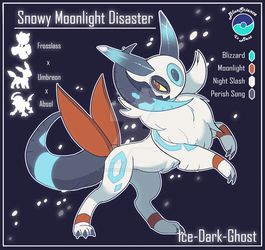 Frosslass x Umbreon x Absol Customfusion by BlueScienceIsBest