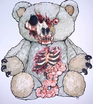 Zombie Teddy by skullzhead