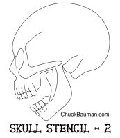 Skull Airbrushing Stencil FREE by crb1177