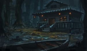 Cabin in the woods by RAPHTOR
