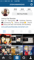 Follow me on Instagram by joshuacarlbaradas