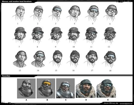 Marcus Cold Weather Head Iterations by steven6