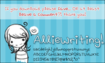 alliewriting. by pixie-dixie-rulz