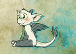 Fanart Fluffy Dragon from Friendlyfoxpal by TinyFeatherpants