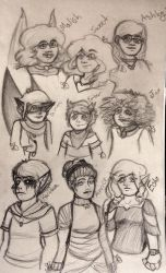 Character Sketches by sweet-peeps