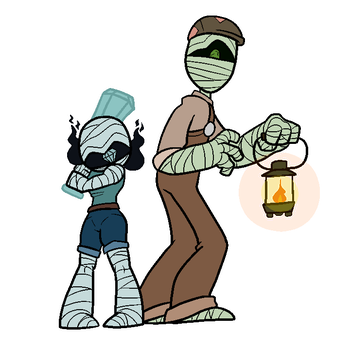Duo mummies by CosmicAscension