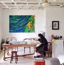 Busy painting by Sandora